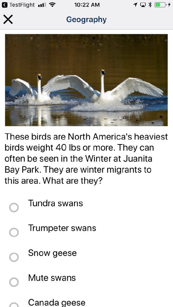 geography question from KITE STEM app